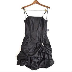 PacificPlex Black 1980's-Style Formal Minidress